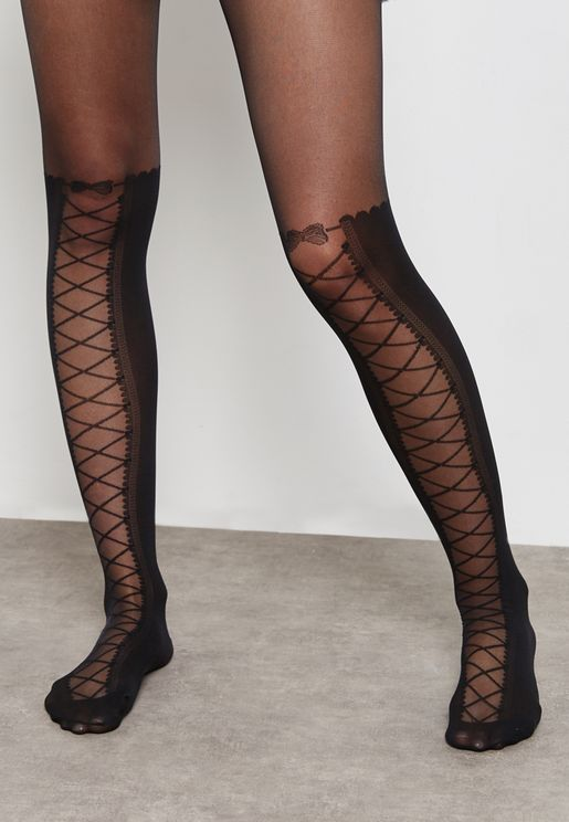 Lace Up Knee Tights