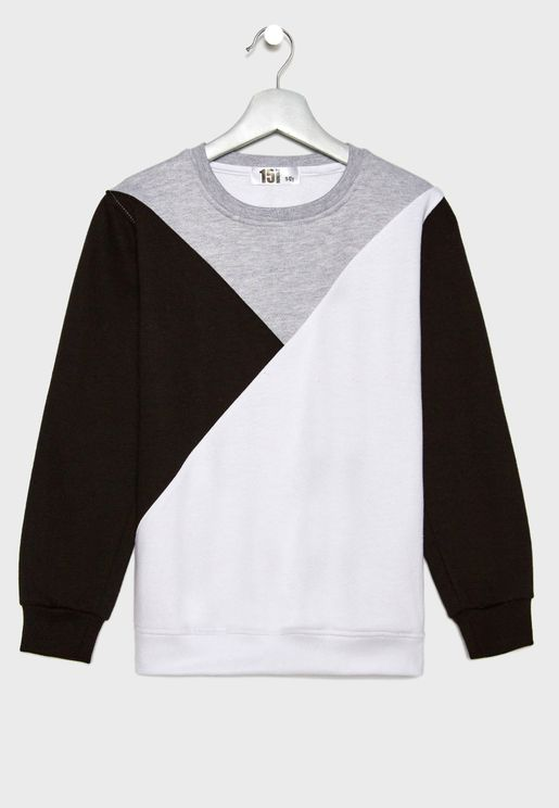 Color Block Sweatshirt 8d7e8b309c