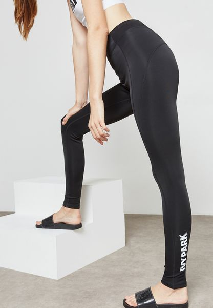 High Waist Logo Leggings