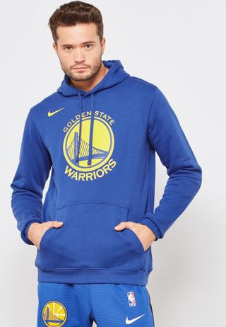 Shop Nike blue Golden State Warriors Showtime Hoodie 899840-495 for ... 420592bf2