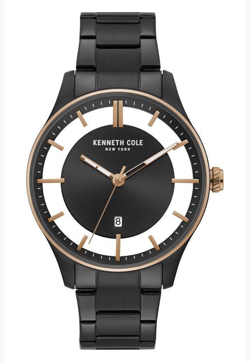 كينيث كول ساعة يد بسوار ستانلس ستيل للرجال - KC50919001