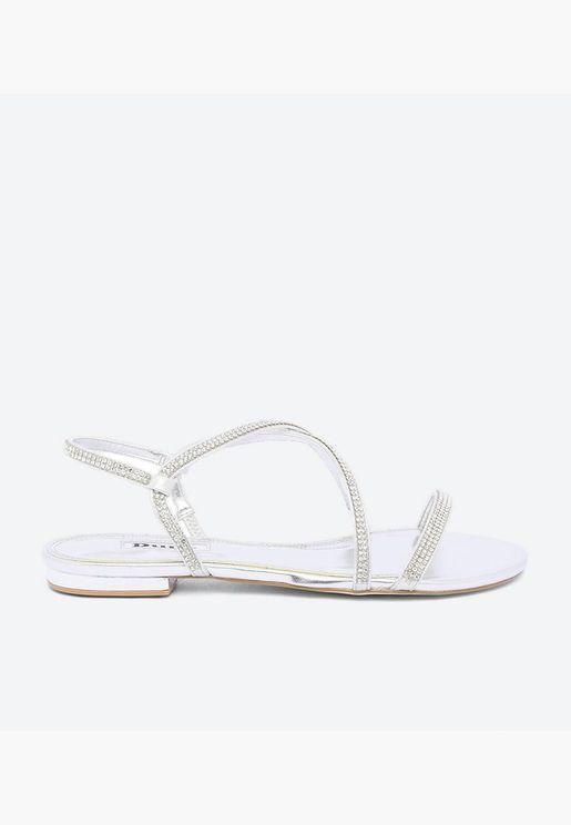 Nicci Di Flat Sandals - Silver