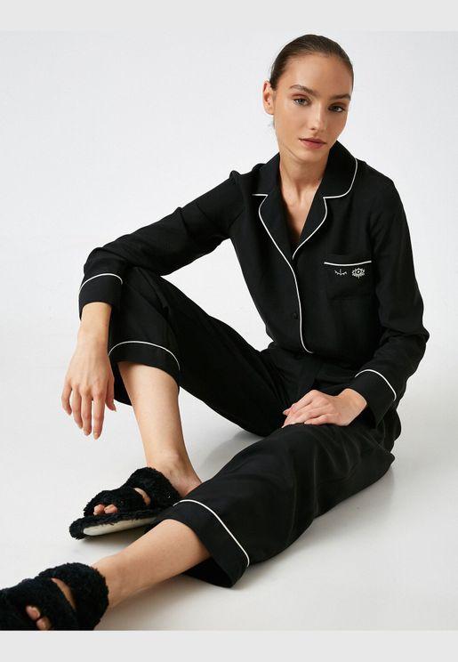 Arzu Sabancı for Koton Satin Pyjama Bottom