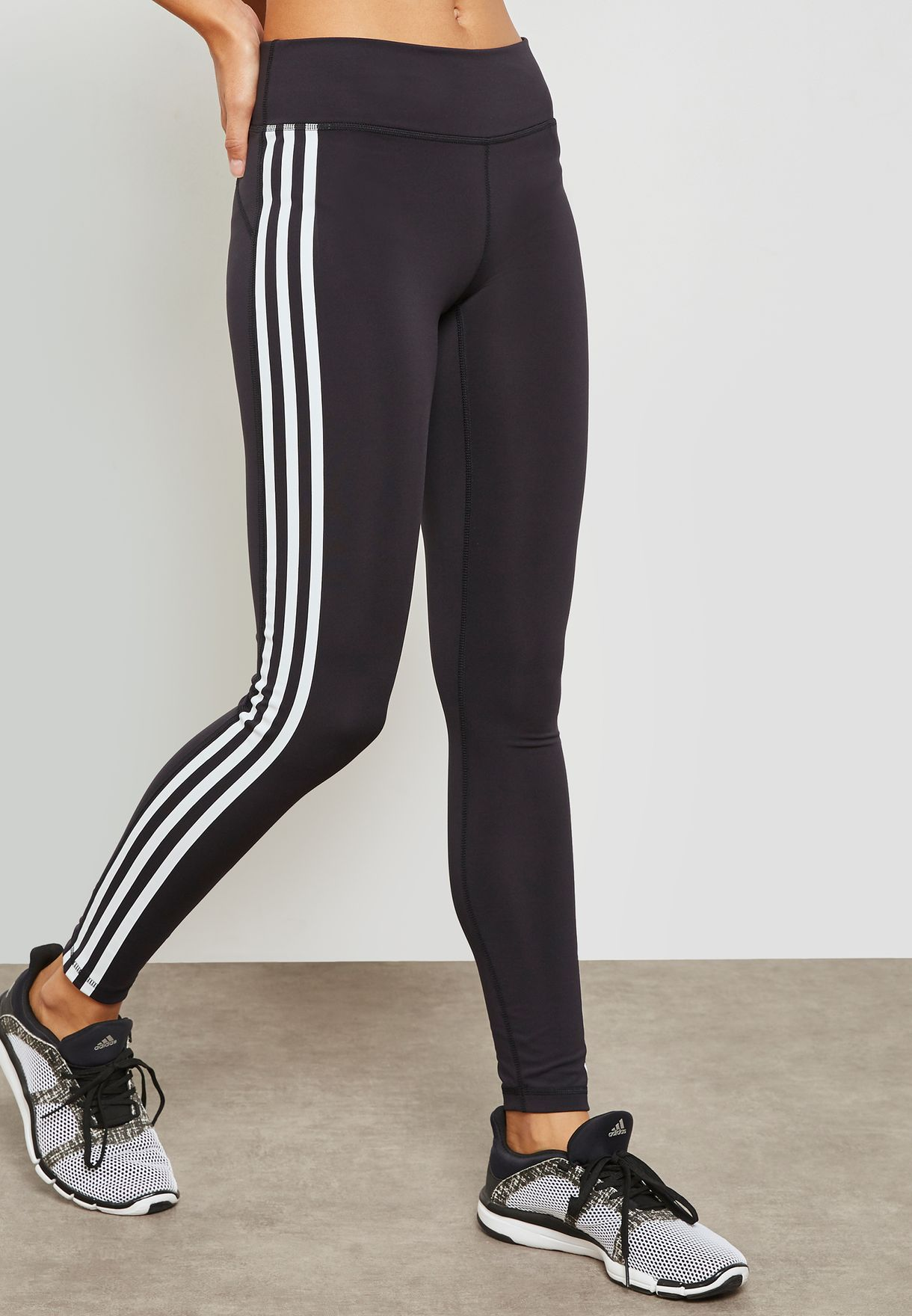 ac759e4d969f71 Shop adidas black Believe This 3 Stripe Leggings CW0494 for Women in ...