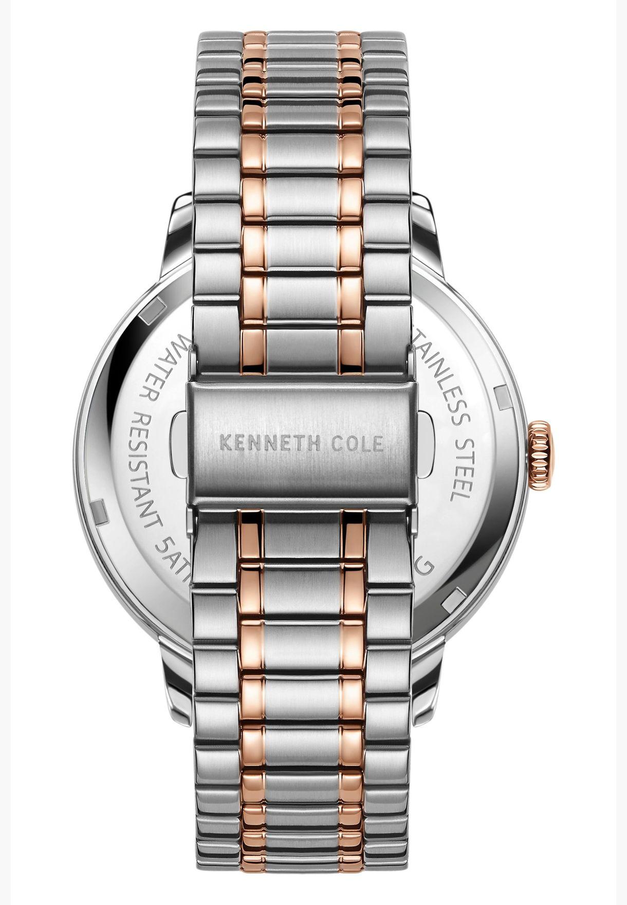 كينيث كول ساعة كلاسيك بسوار من الستانليس للرجال - KC51025002