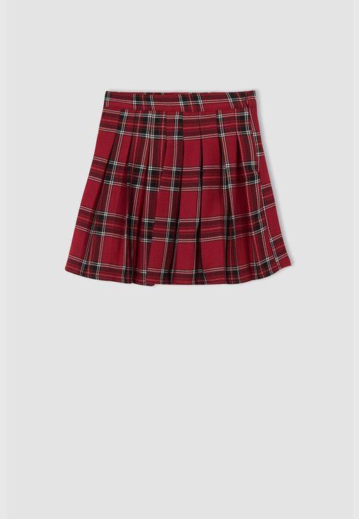 Girl Regular Fit Woven Skirt