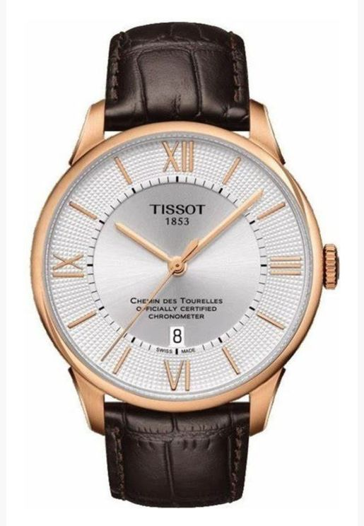 ساعة تيسو شيمن دي توريل بسوار جلدي - T099.408.36.038.00