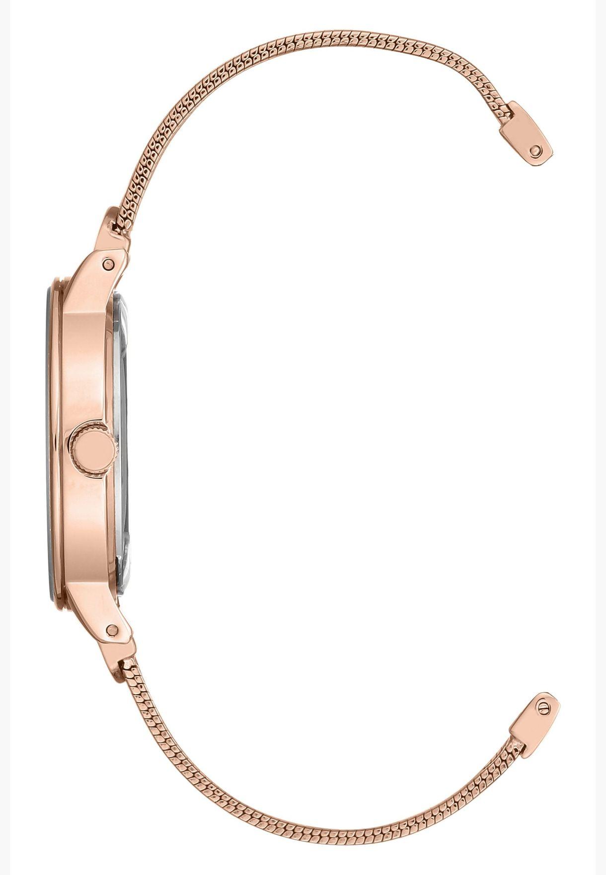 Anne Klein Trend Steel Strap Watch for Women - AK3222RMRG