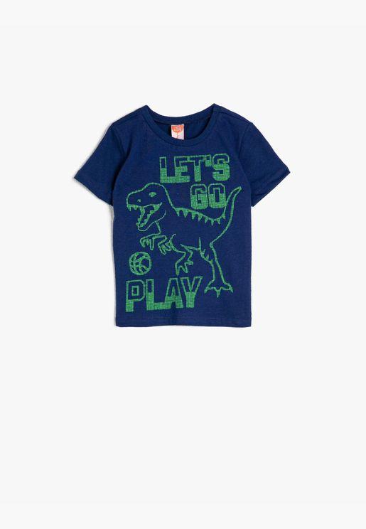 Crew Neck Printed Short Sleeve T-Shirt