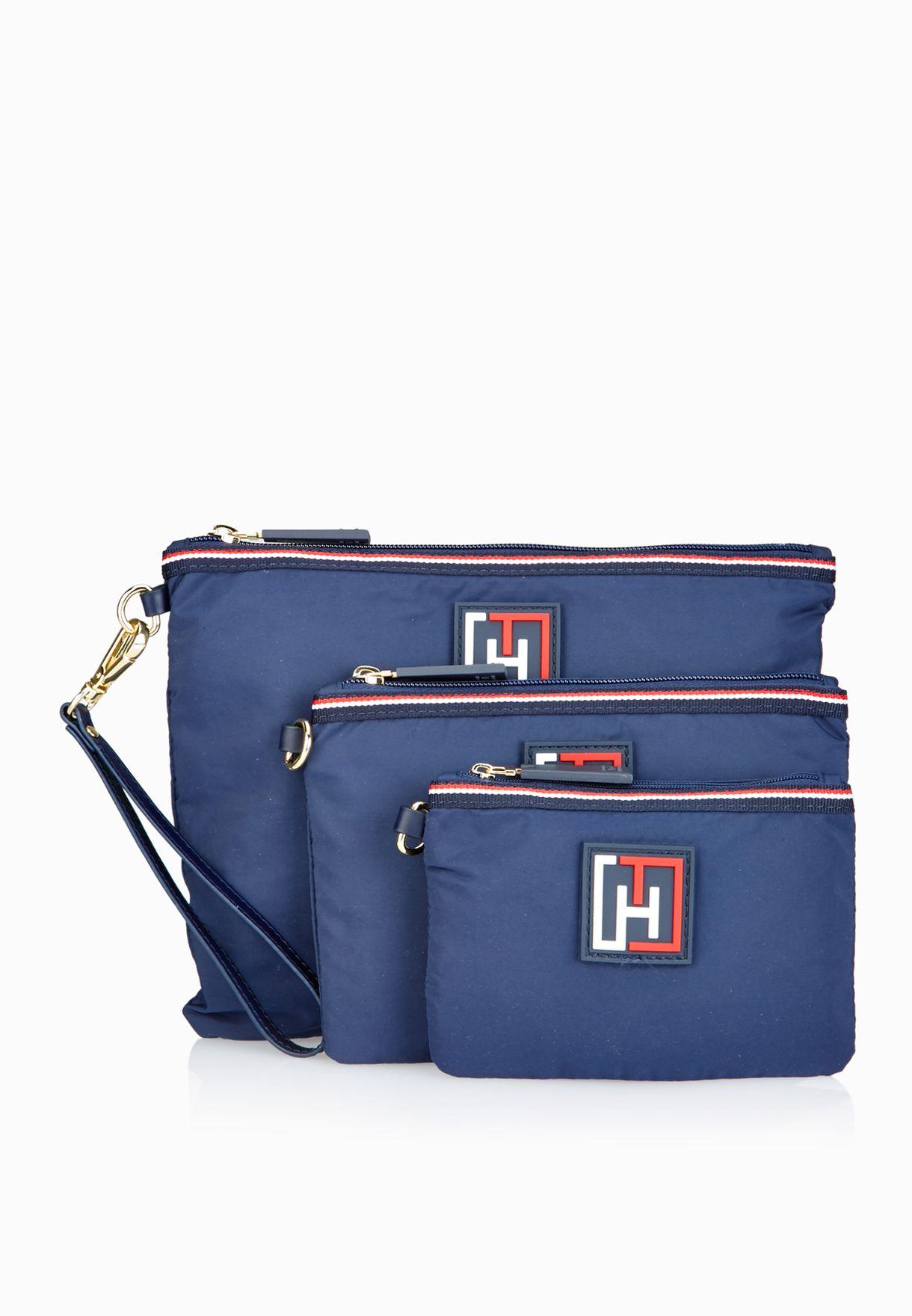72e0deaa Shop Tommy Hilfiger navy Shopper + Crossbody + Waistbag Set 6930753 ...