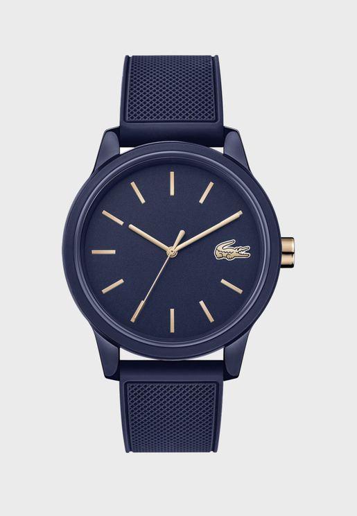 ساعة لاكوست L12.12 بسوار سيليكون للرجال - 2011011