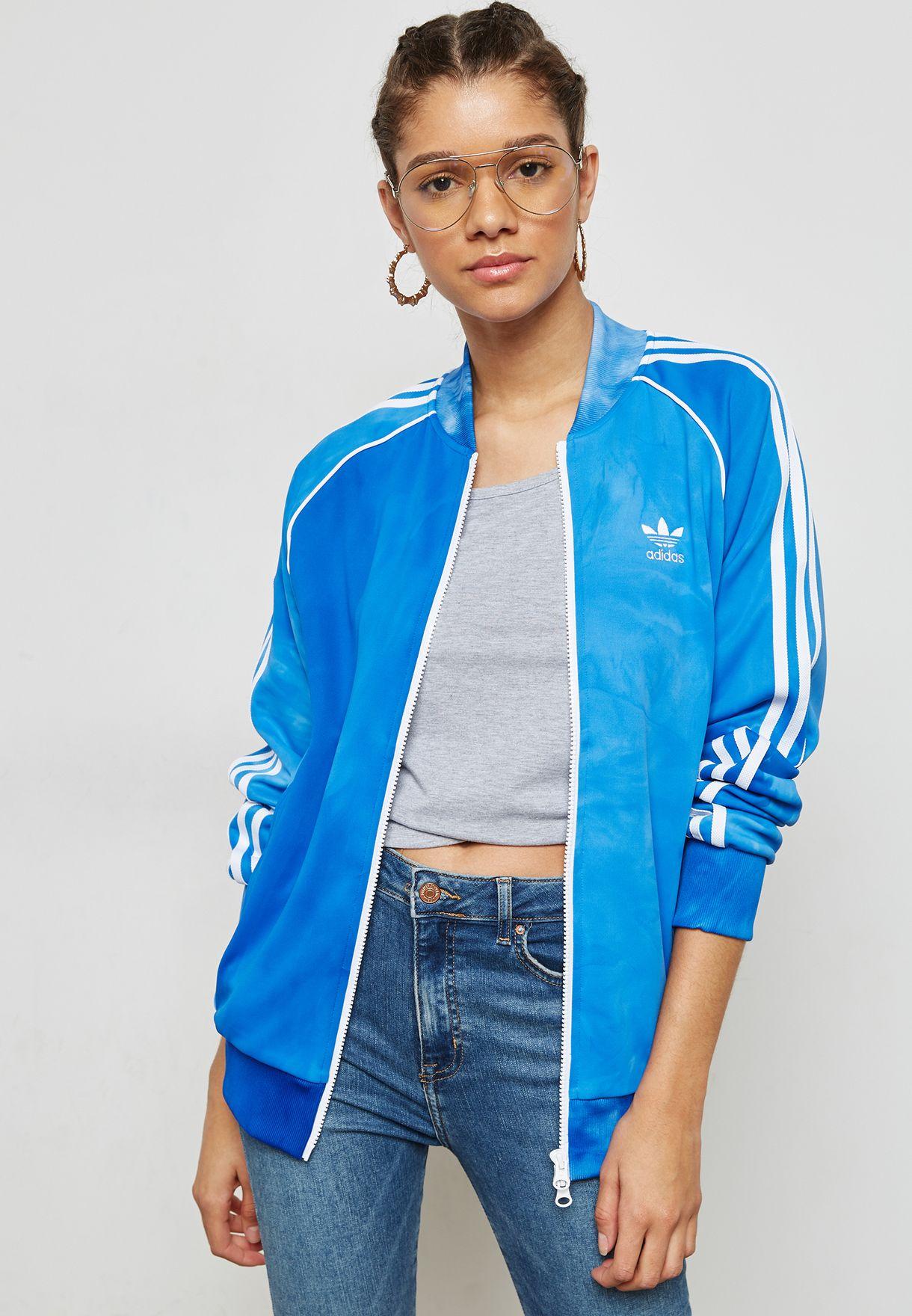 f1b53c902bba1 Shop adidas Originals blue Pharrell Williams Hu Holi Track Jacket ...