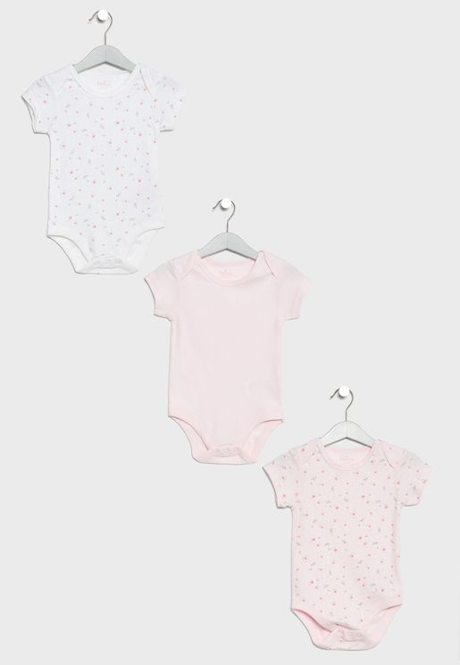 Infant 3 Pack Bodysuits Set