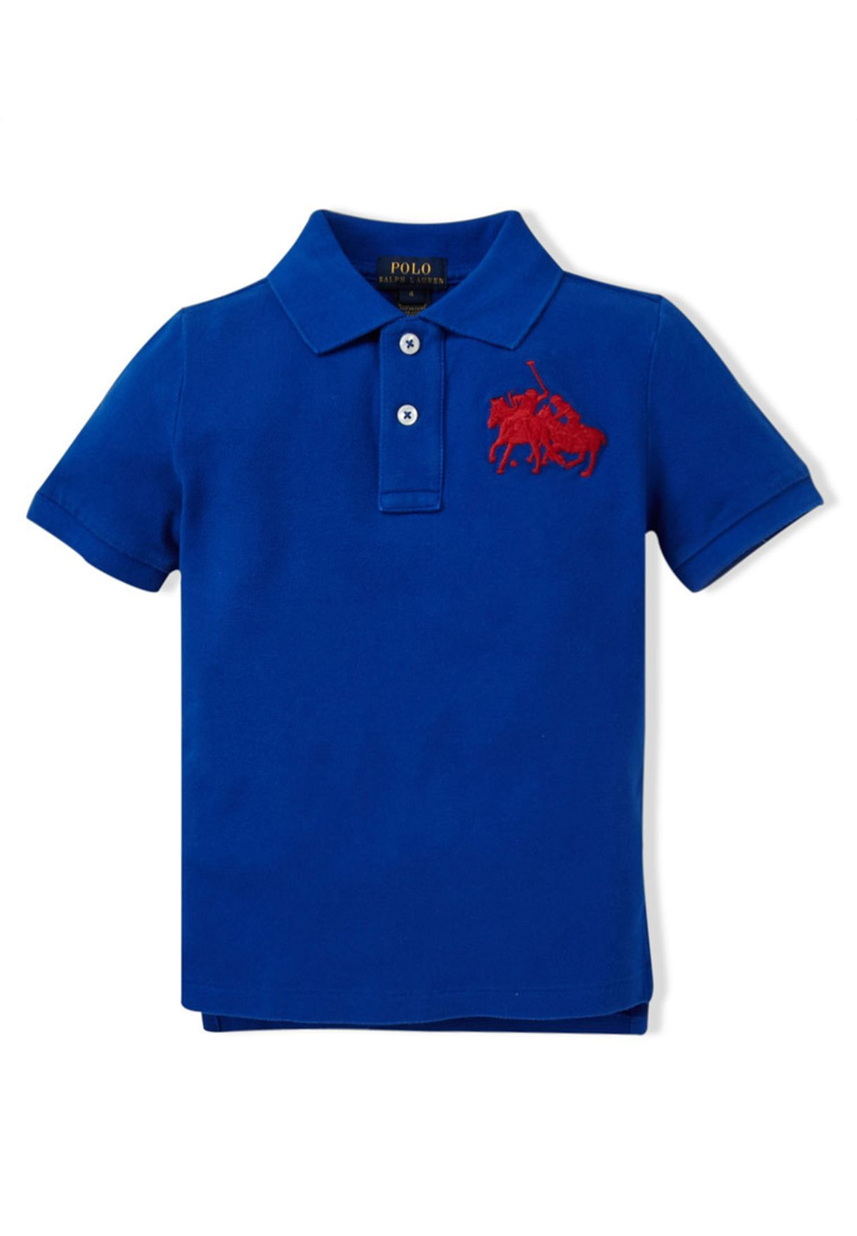 d4192590f Shop Polo Ralph Lauren blue Logo T-Shirt for Kids in Oman - RA777AT58XSV