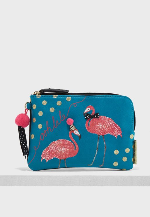 Candy Pop Flamingo Purse
