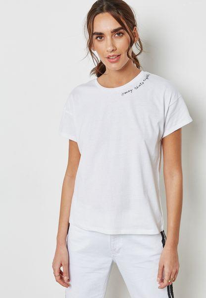 Slogan Detail T-Shirt