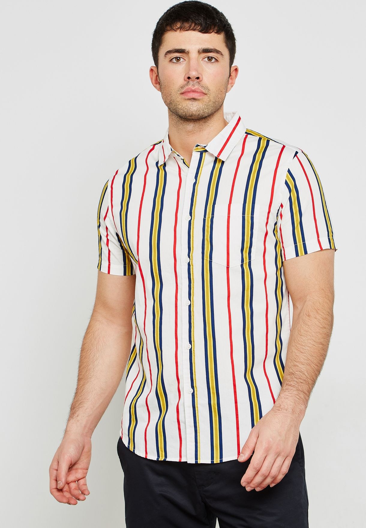 dfe682735e Shop Forever 21 stripes Striped Classic Shirt 291513 for Men in UAE ...