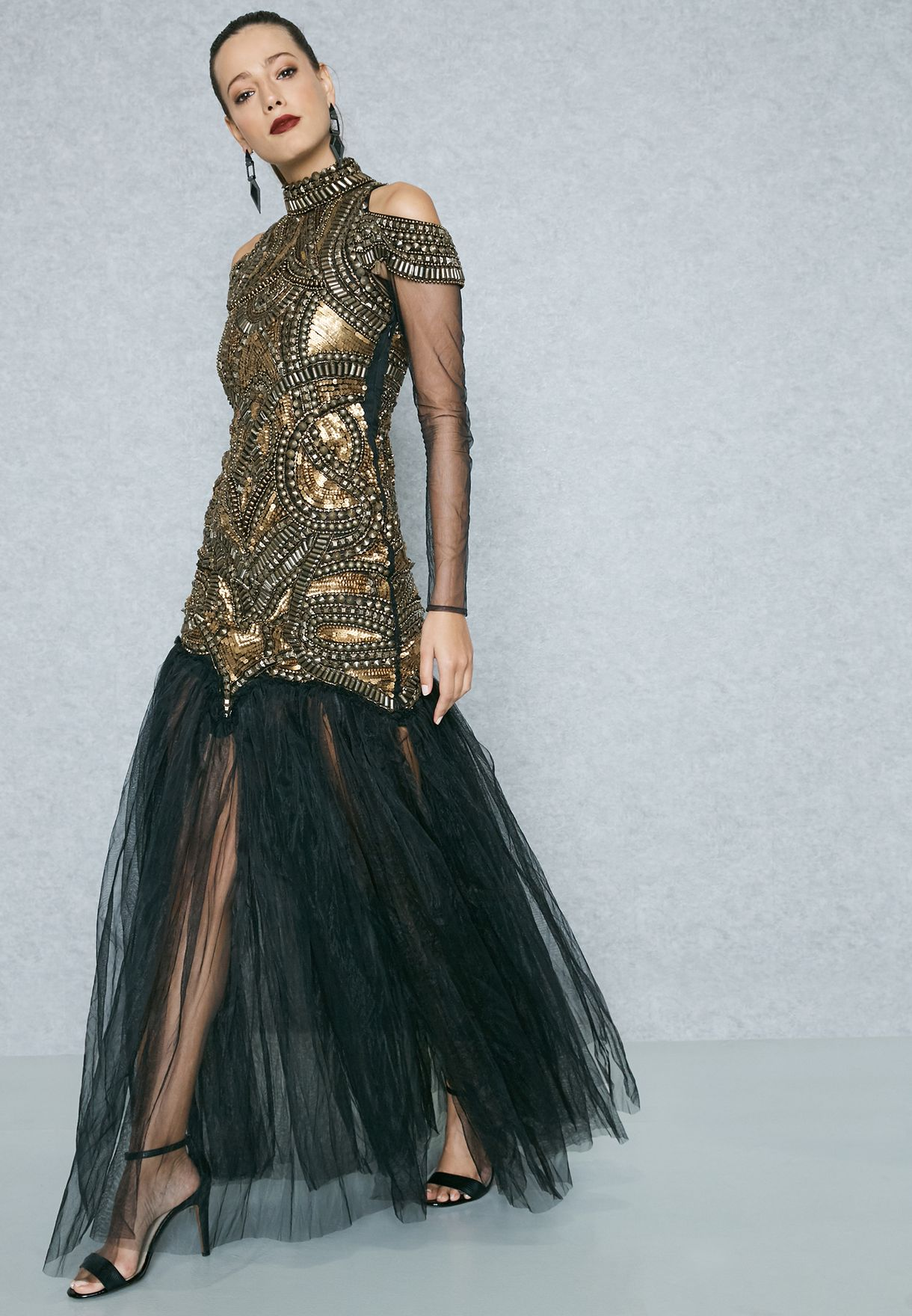 35b34ab936 Shop A Star is Born multicolor Embellished Tulle Maxi Dress 786 DG 002 for  Women in Qatar - AS152AT58FQF