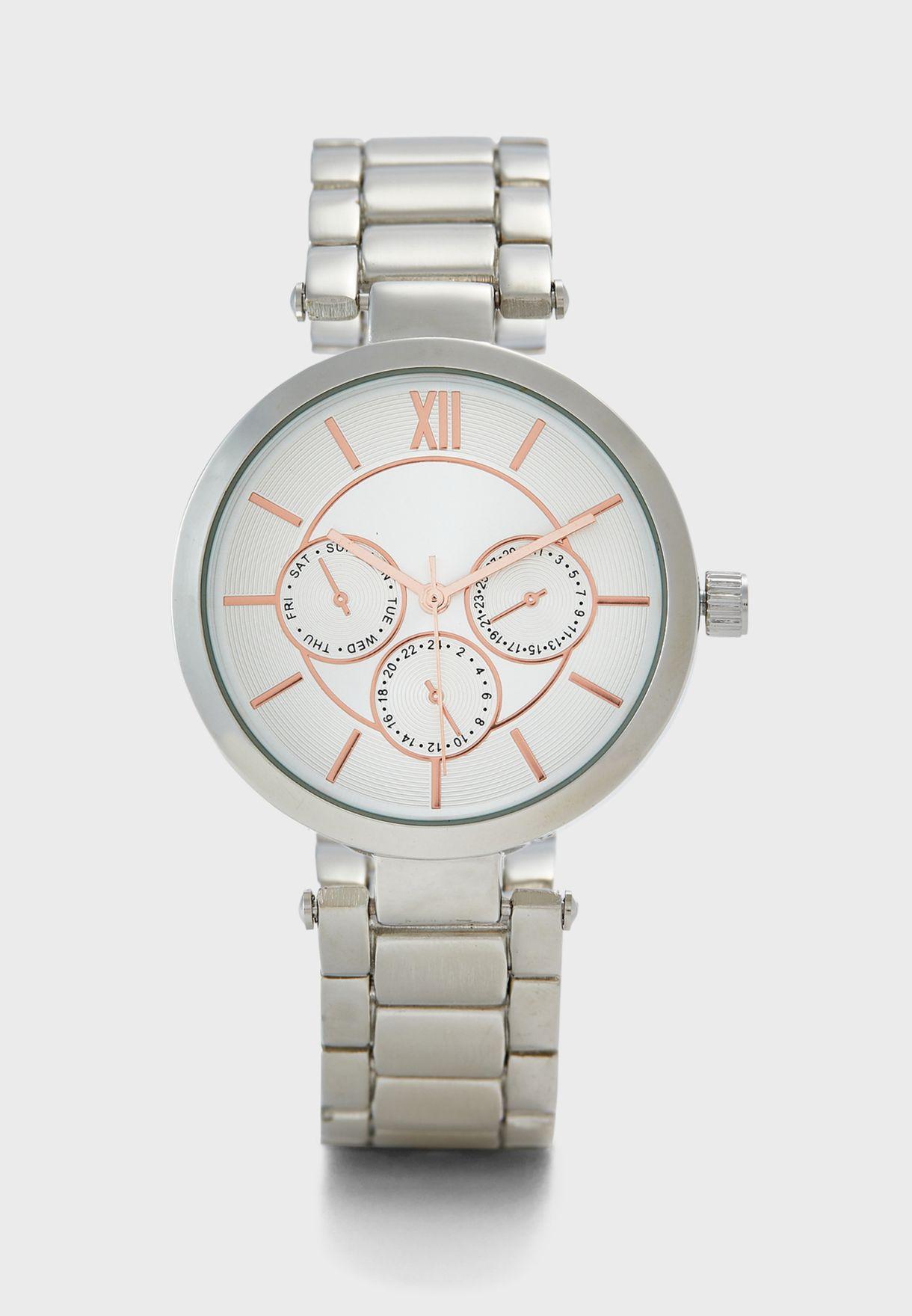 8ad97496fe0a0 تسوق ساعة انيقة ماركة جينجر لون فضي GG01 في السعودية - GI121AC58WLP