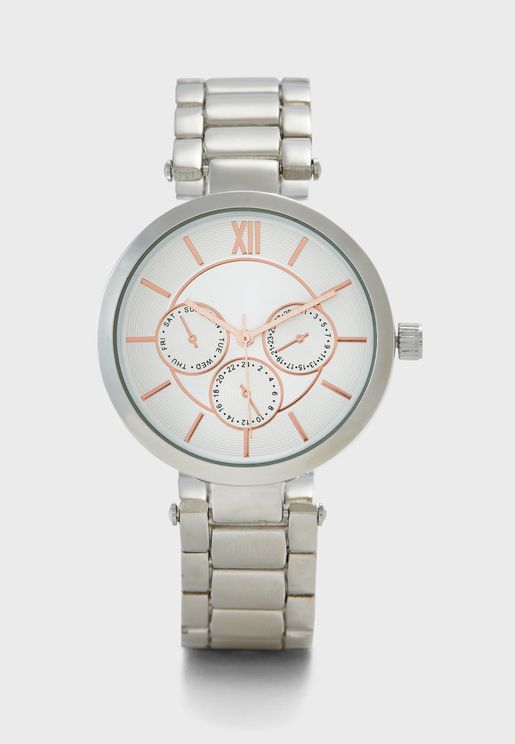 Silver Analogue Watch