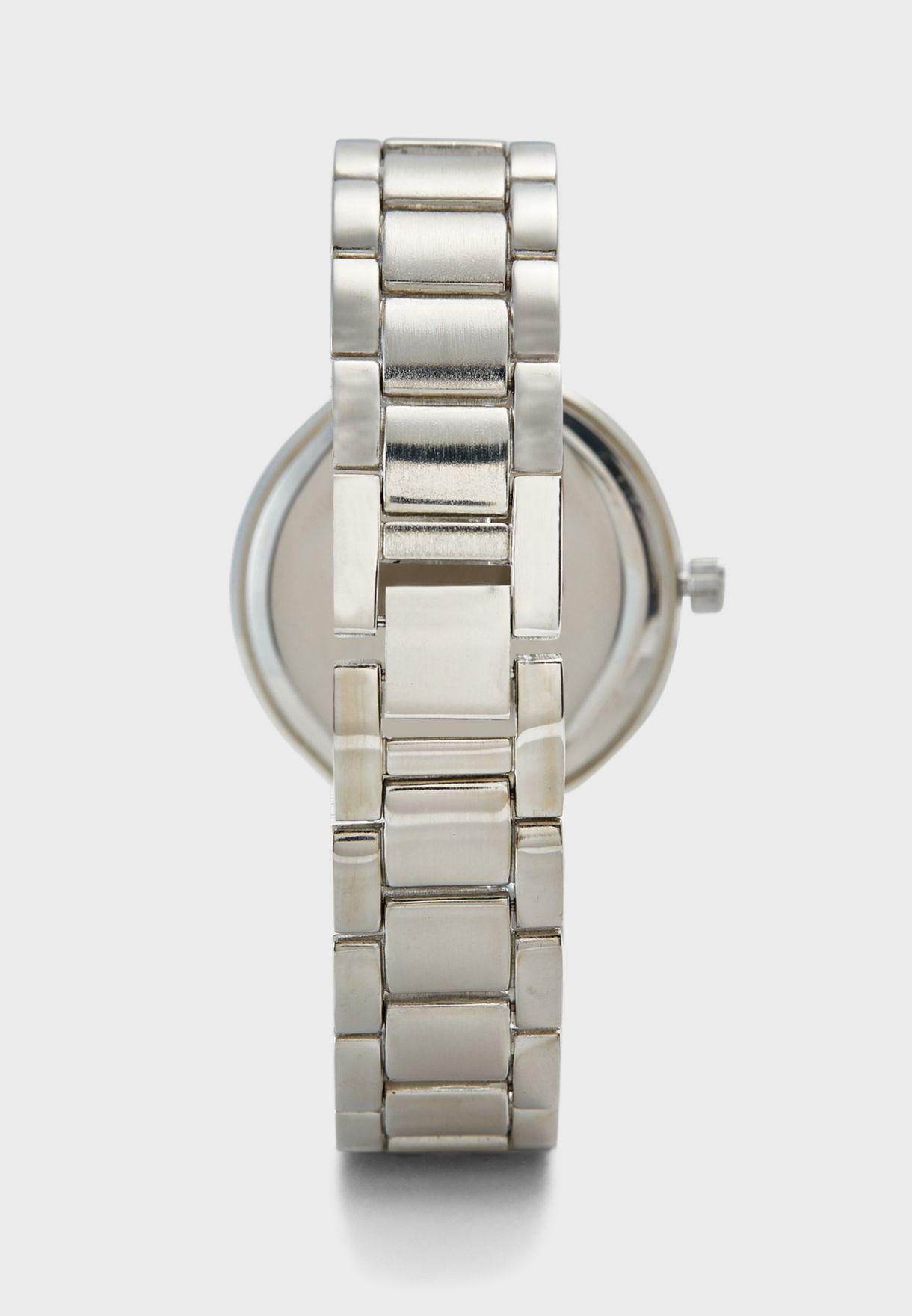 Silver Analogue Watch