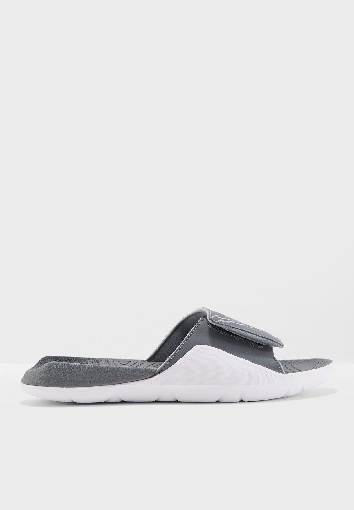 c307222eb392 Shop Nike grey Jordan Hydro 7 Slides AA2517-002 for Men in UAE ...
