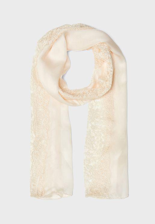 Infinity Lace Silk Scarf