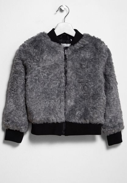 Tween Melisa Bomber Fake Fur Jacket