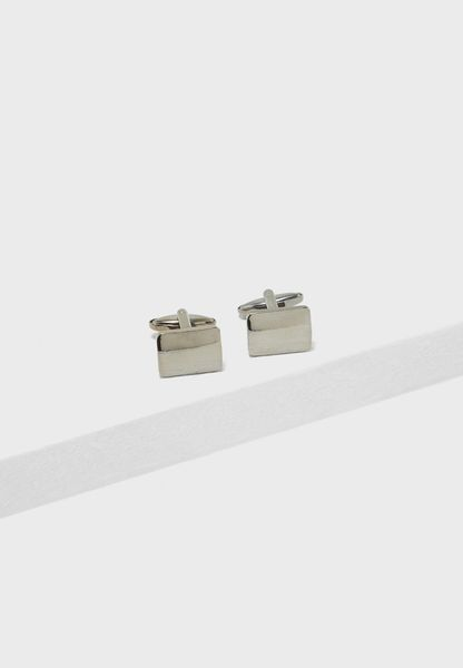 Metal Finish Rectangular Cufflinks