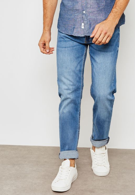 Slim Fit  Light Wash Jeans