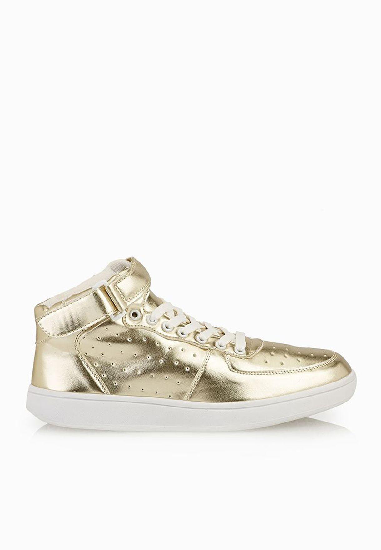 Buy Hot Soles Gold Metallic Sneakers