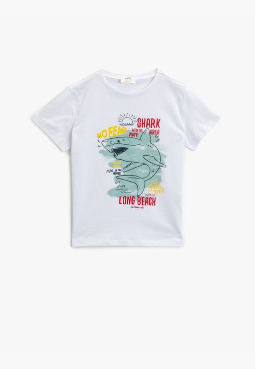 Printed T-Shirt Short Sleeve Cotton
