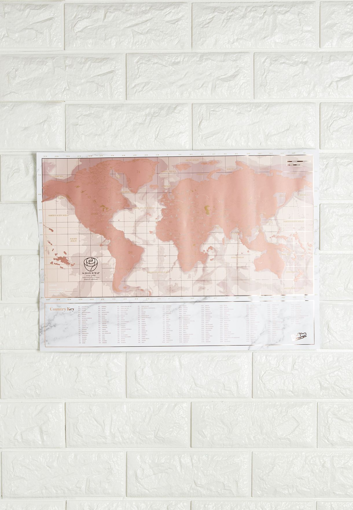 Mini World Map.Shop Luckies Gold Mini World Map Scratch Poster Lukrgst For Women In