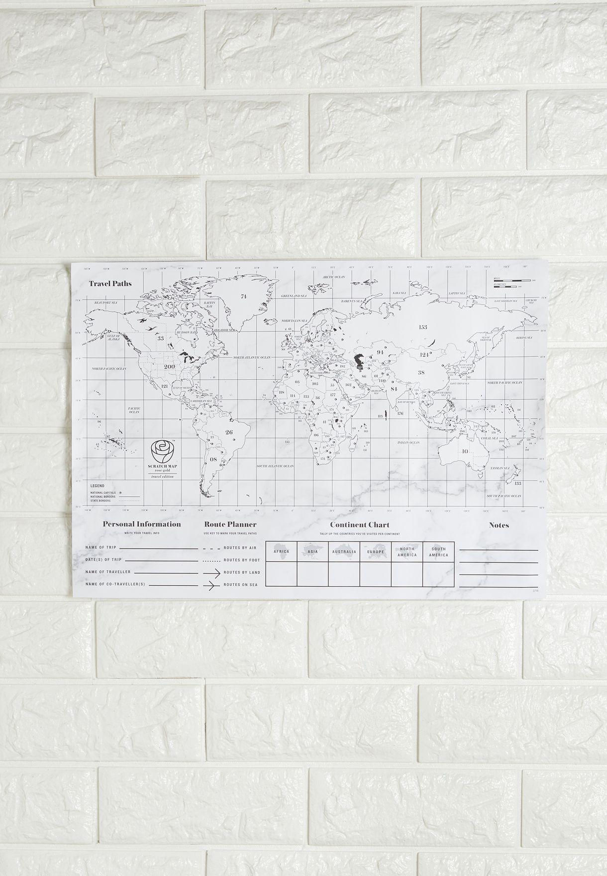 بوستر صغير لخريطة العالم