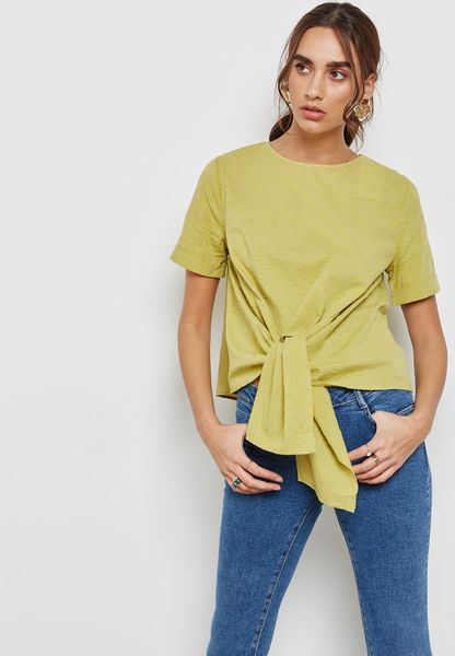 Bow Textured Top