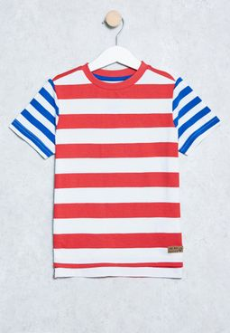 Little Stripe Print T-Shirt