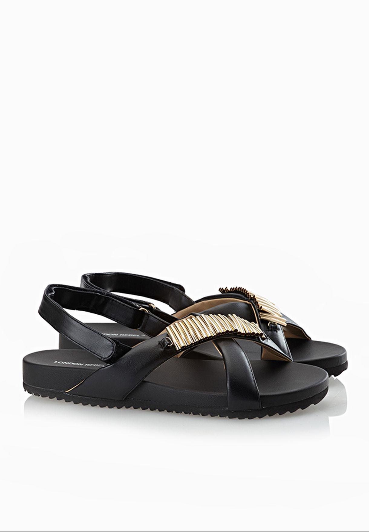 c1470a15059 Shop London Rebel black Angela Sandals for Women in Saudi - LO463SH58AHD