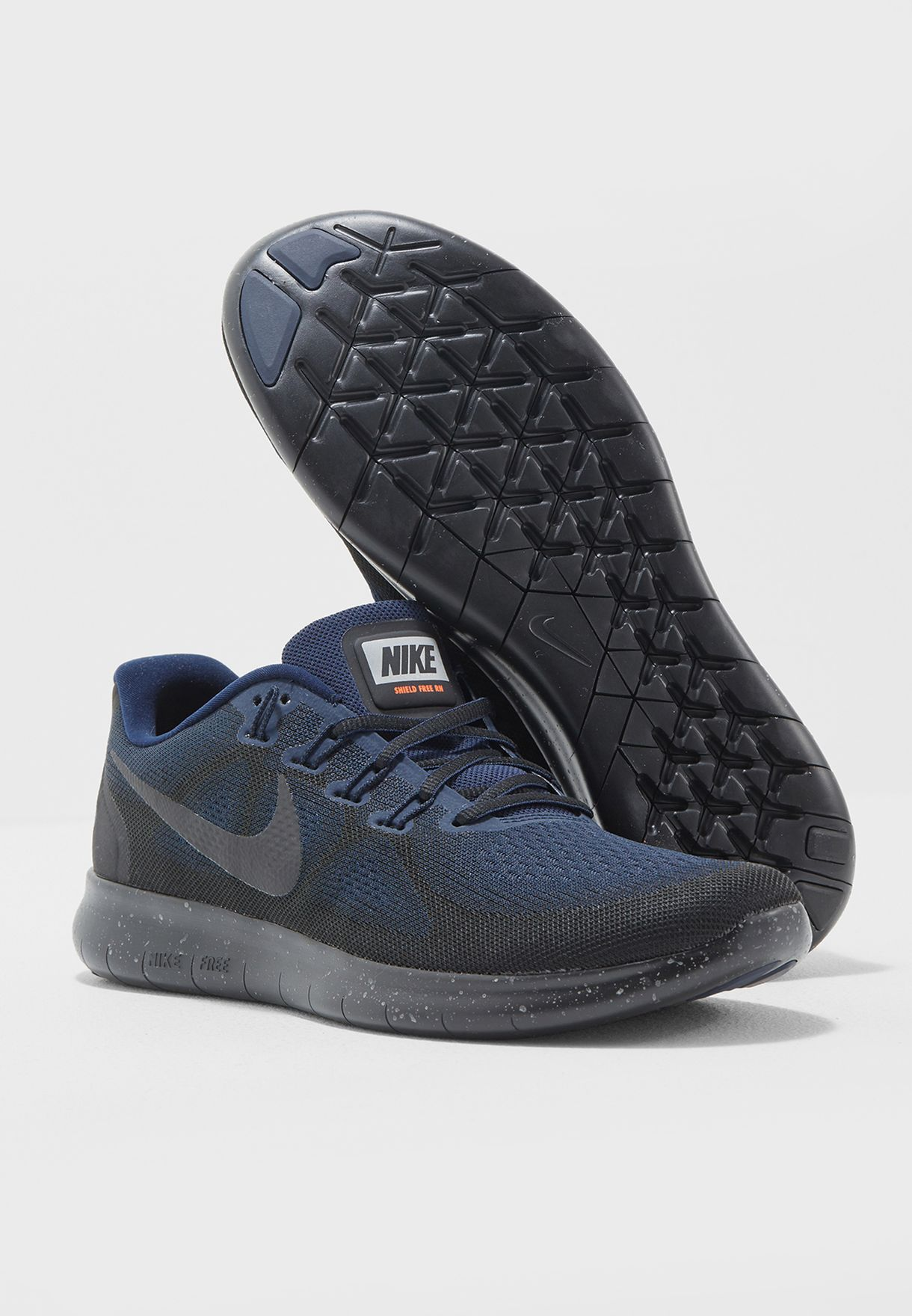 803cceb3d7a4 Shop Nike navy Free Rn 2017 Shield AA3760-001 for Men in Kuwait ...