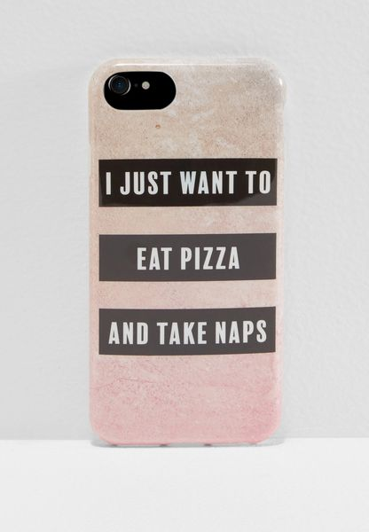 I Just Want to Eat Pizza iPhone 6/7/8 Hybrid Case