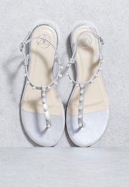 Pearl T-Strap Sandal