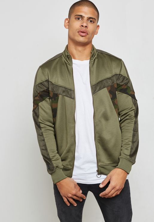 Camo Detailed Track Jacket