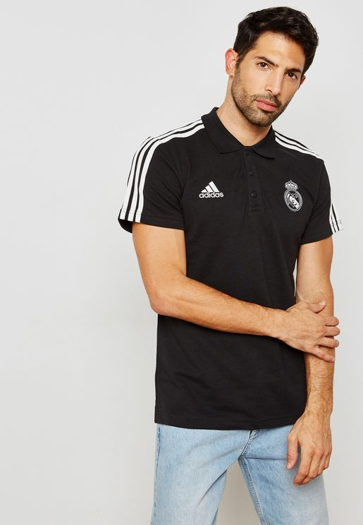 Real Madrid 3 Stripe Polo