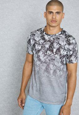 Floral Fade Print Vest