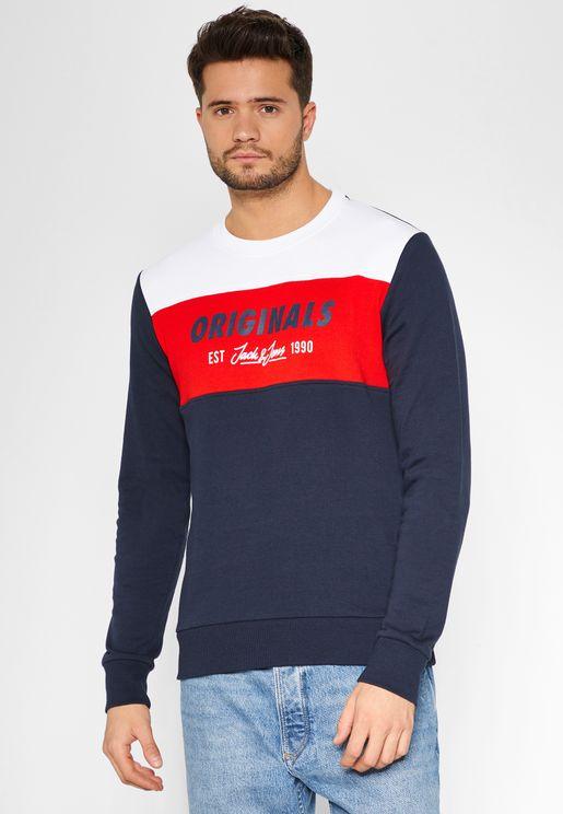 Shakedowns  Colour Block Sweatshirt
