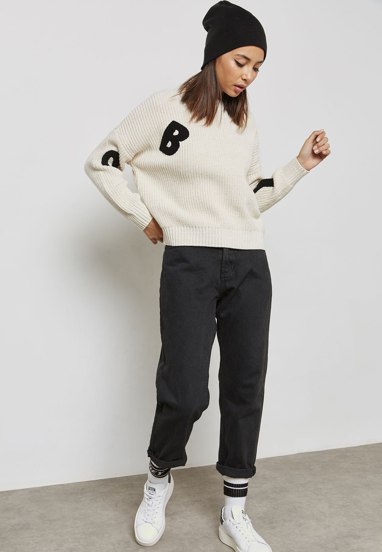 Logo Ribbed Sweater