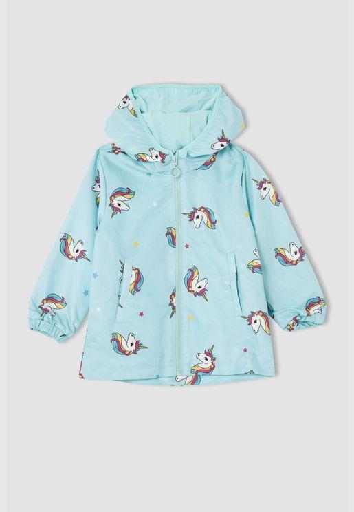 Girl Regular Fit Raincoat