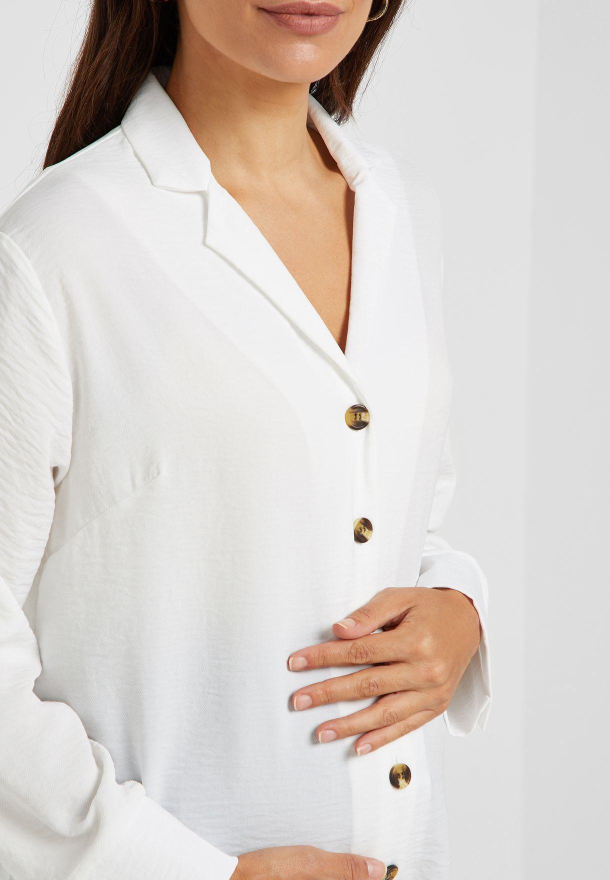 Floral Print Revere Collar Shirt