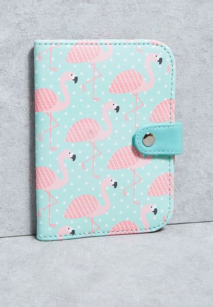 Tropical Flamingo Passport Holder