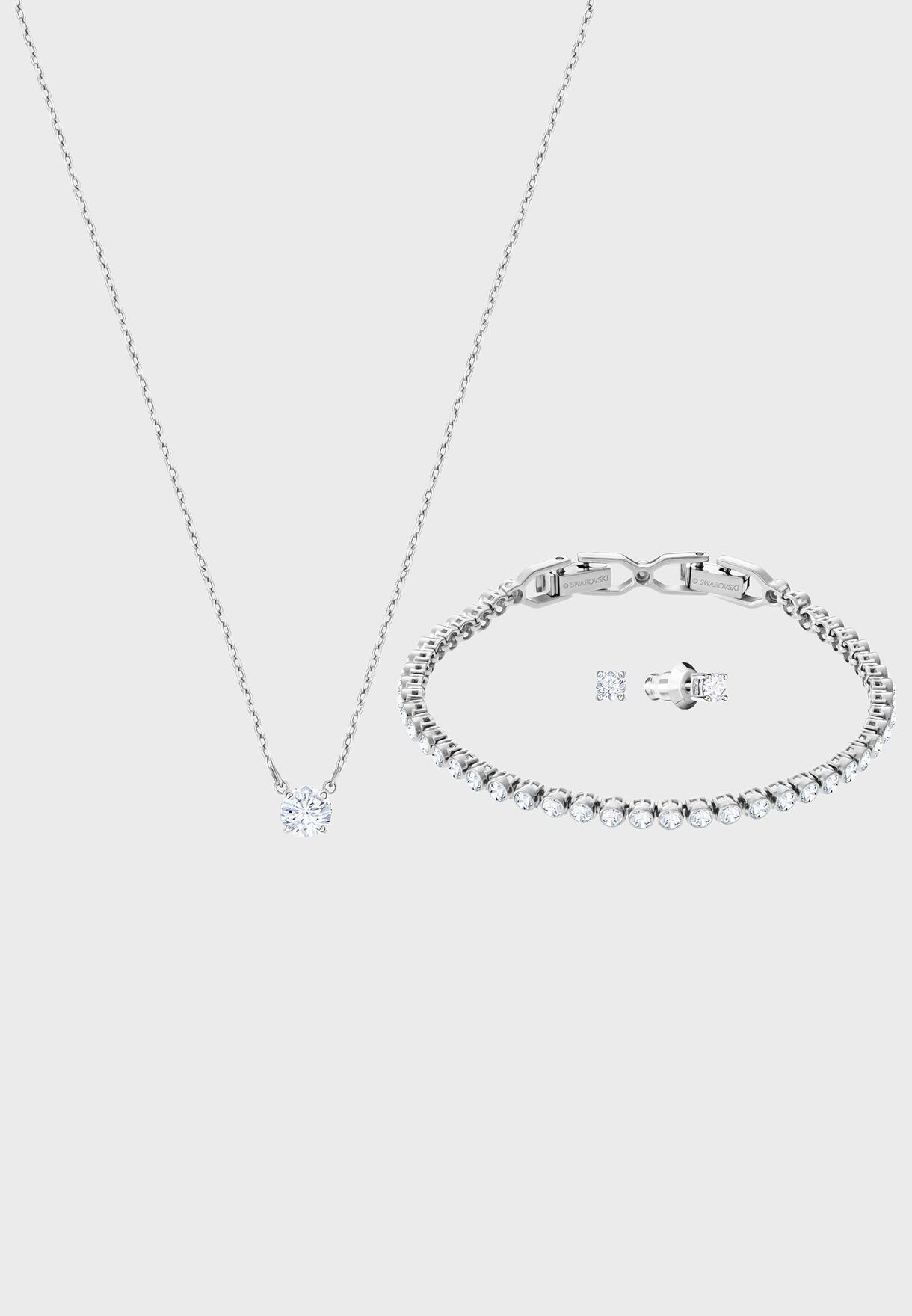 ccdc80eac Shop Swarovski silver Attract Emily Set 5408443 for Women in UAE ...