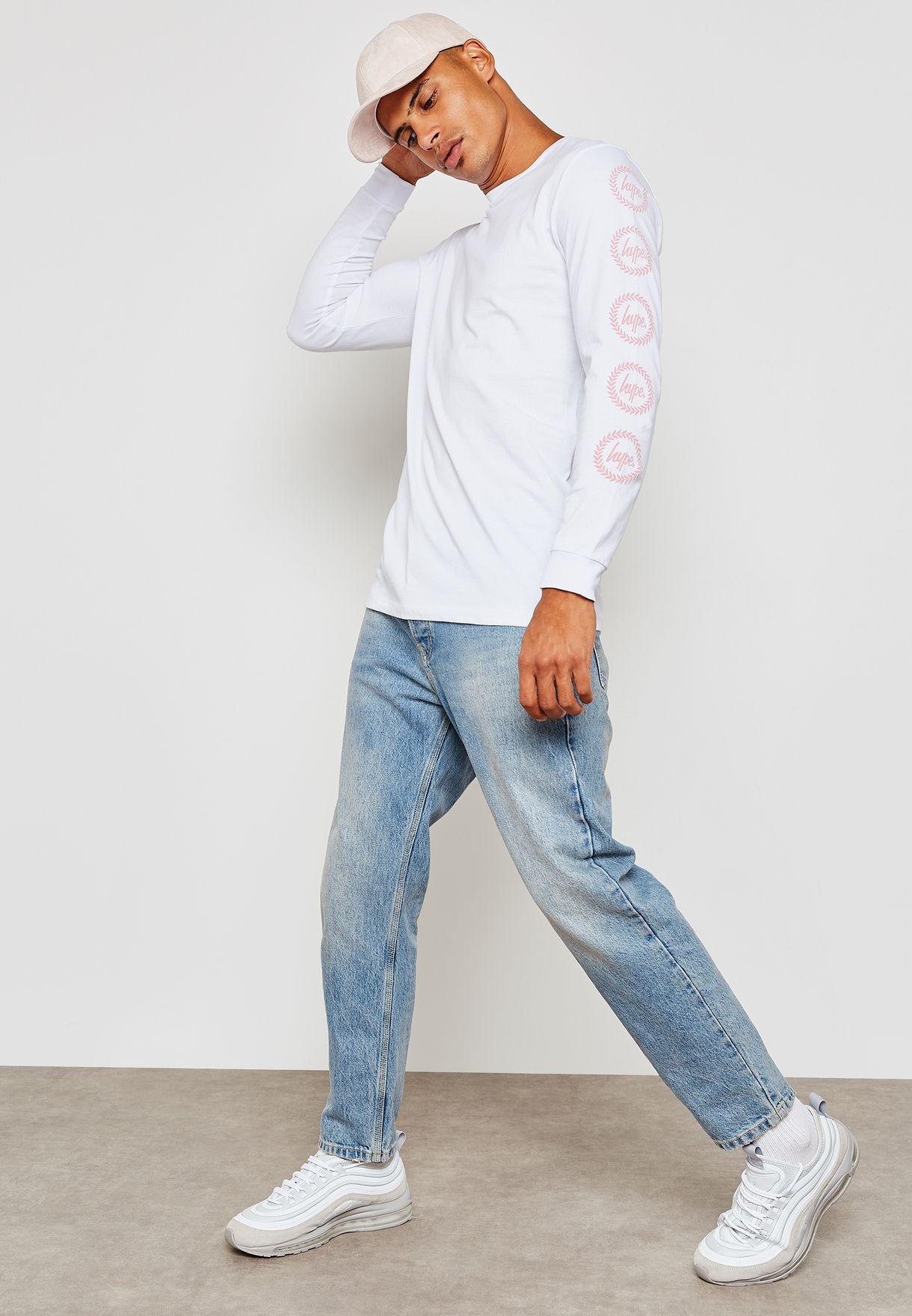 Print On Sleeves T-Shirt